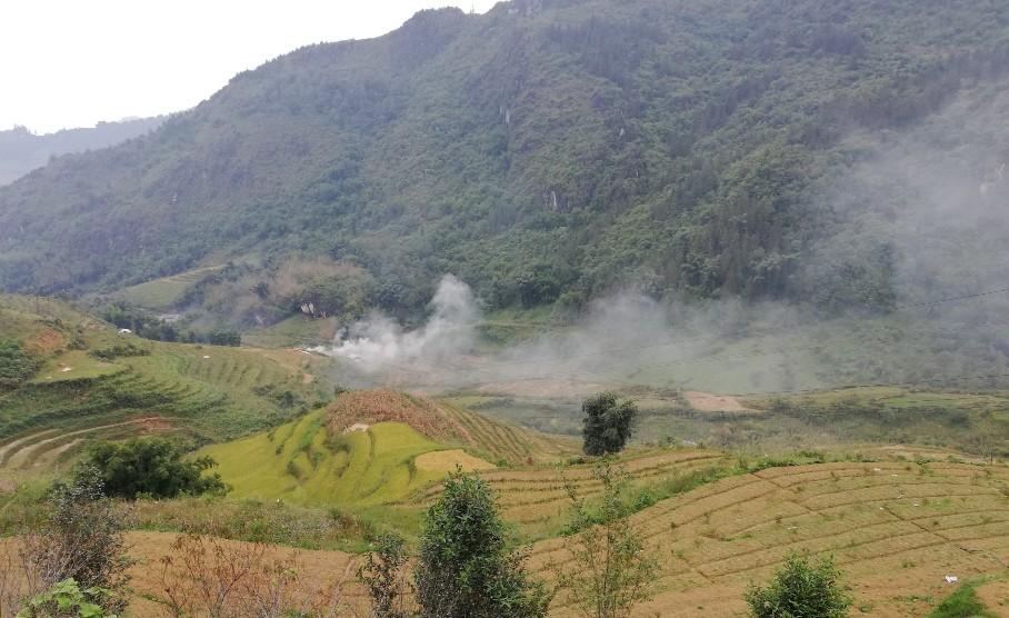 Thung lũng trước nhà The Link Farm Homestay